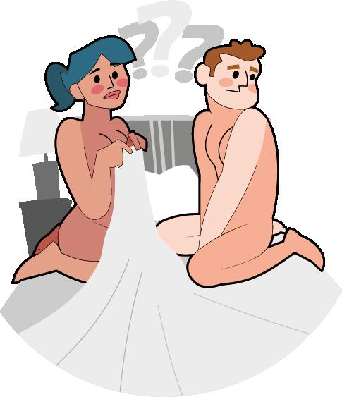 Teenager Paar beim ersten Mal