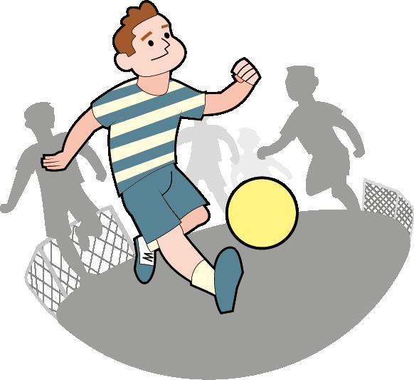 Fussballspielender Junge