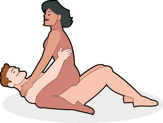 Paar in der Cowgirl Stellung