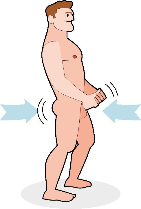 Beckenbewegung beim Masturbieren