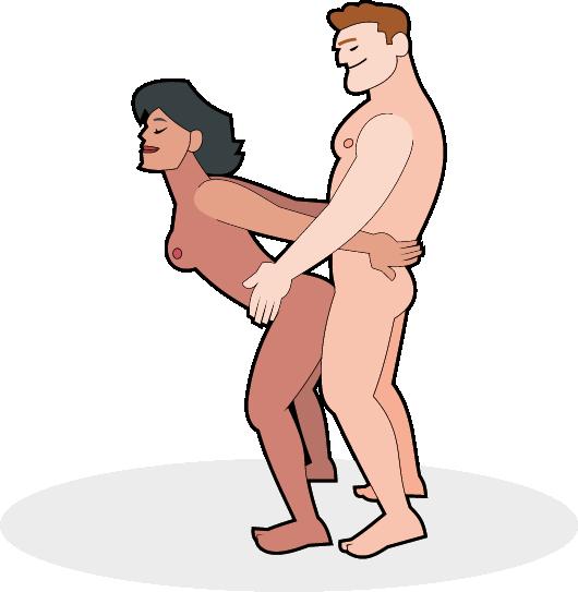 Hetero Paar in der stehenden von hinten Stellung