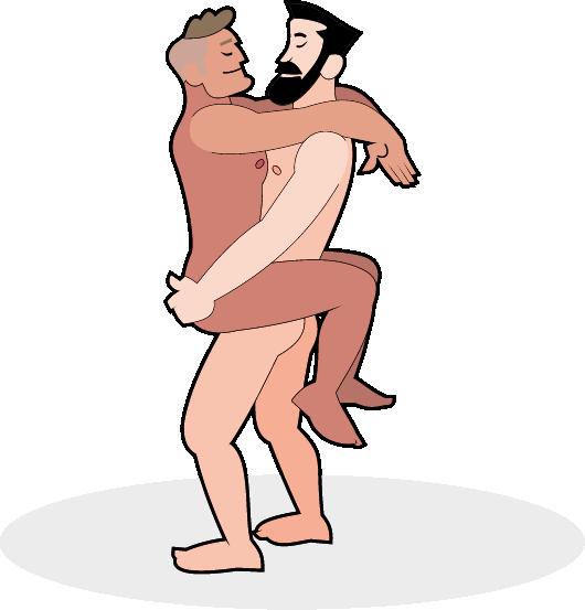 Schwules Paar in der stehenden Umarmung Stellung