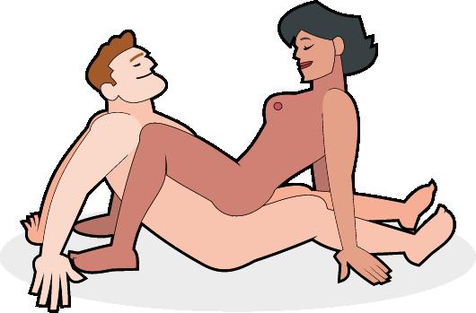 Paar in der Krabben Stellung